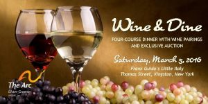 wine and dine event flyer