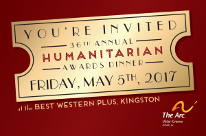 Invitation to the 36th annual humanitarian awards dinner